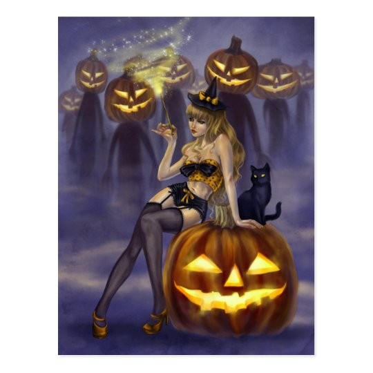 Pin-Up Witches - I Put A Spell On You Postcard | Zazzle.com