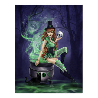 Pin-Up Witches - Jinxed Postcard