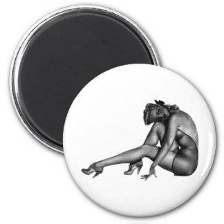 Pin Up Woman Design! Magnet