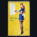 "Pin Ups 2020 Calendar<br><div class=""desc"">Retro pinups! 12 month calendar for 2019. High quality images carefully selected. Images are also available as posters and postcards in our store.</div>"