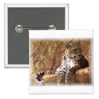 Pin vigilante del leopardo