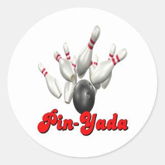 Pin-Yada Classic Round Sticker