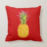 Piña - almohada tropical roja