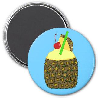 Pina Colada 3 Inch Round Magnet