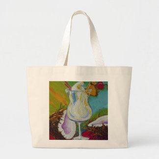 Piña Colada and Coconut by Paris Wyatt Llanso Large Tote Bag