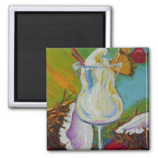 Piña Colada and Coconut by Paris Wyatt Llanso Magnet