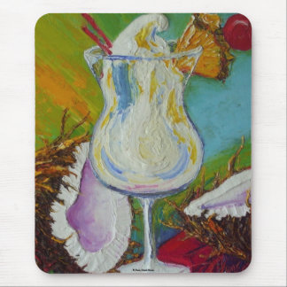 Piña Colada and Coconut by Paris Wyatt Llanso Mouse Pad