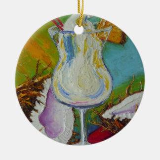 Pina Colada and Coconut Ornament by Paris Llanso