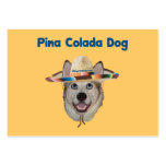 Pina Colada Beach Dog Large Business Cards (Pack Of 100)