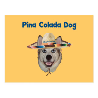 Pina Colada Beach Dog Postcard