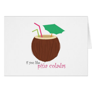 Pina Colada Card