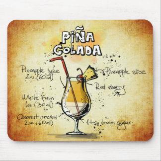 Pina Colada Cocktail Recipe Mouse Pad