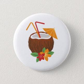 Pina Colada Coconut Pinback Button