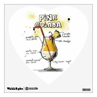 Pina Colada Drink Recipe Design Wall Skins