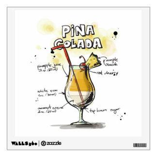 Pina Colada Drink Recipe Design Room Graphic