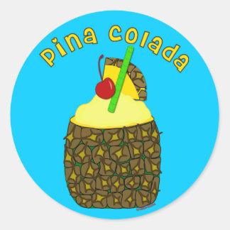 Pina Colada Pegatina Redonda