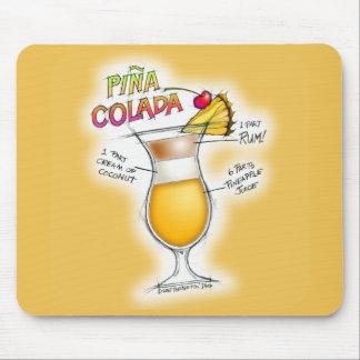 PINA COLADA RECIPE COCKTAIL ART MOUSE PAD