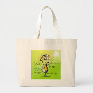 Pina Colada Recipe - Cocktail Gift Large Tote Bag