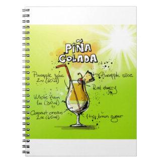 Pina Colada Recipe - Cocktail Gift Notebook