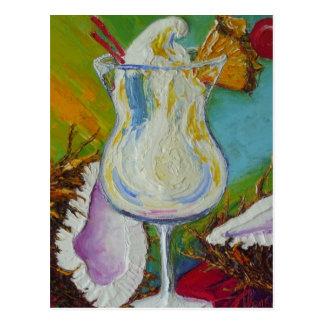 Piña Colada y coco por París Wyatt Llanso Tarjetas Postales