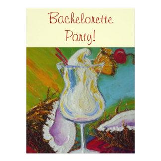 Pina Colada y invitación de Bachelorette del coco