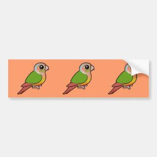 Piña Conure Verde-cheeked de Birdorable Pegatina De Parachoque