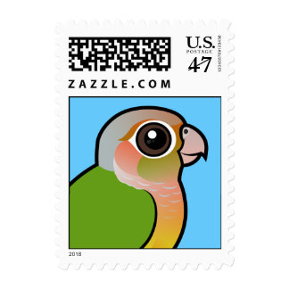 Piña Conure Verde-cheeked de Birdorable Sello Postal