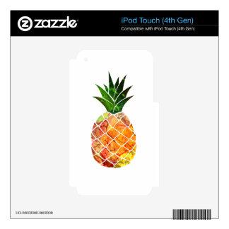 Piña de la acuarela skins para iPod touch 4G