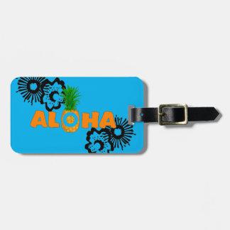 Piña de la hawaiana - etiquetas de encargo del etiquetas para maletas