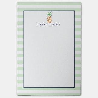 Piña de muy buen gusto de la raya personalizada notas post-it®