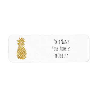 piña de oro etiquetas de remite