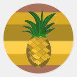Piña de oro etiquetas redondas