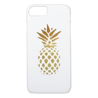 Piña de oro, fruta en oro funda iPhone 7