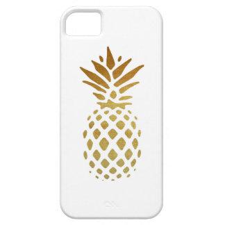 Piña de oro, fruta en oro iPhone 5 funda