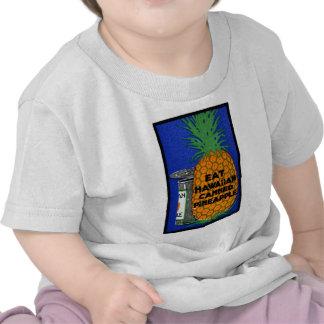 Piña del Hawaiian del vintage Camisetas