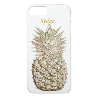 Piña del oro personalizada funda iPhone 7