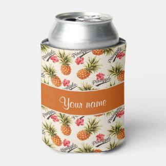 Piña e hibisco enfriador de latas