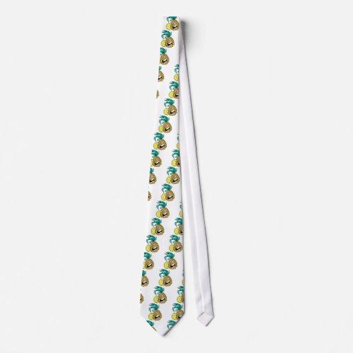 Piña feliz corbatas personalizadas
