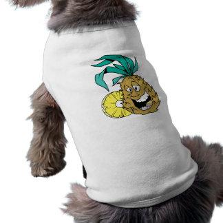 Piña feliz playera sin mangas para perro