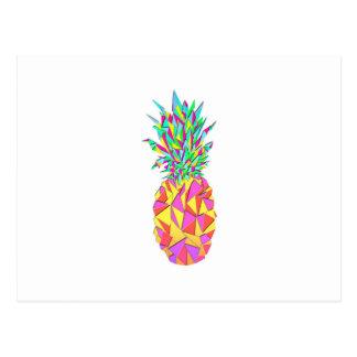 Piña geométrica rosada femenina de los triángulos tarjetas postales
