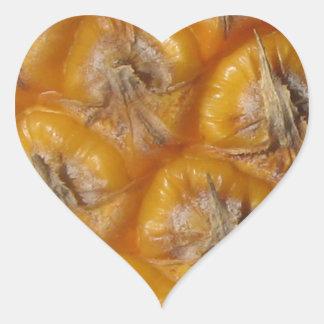 Piña hawaiana pegatina en forma de corazón