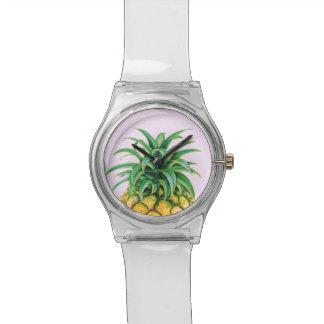 Piña minimalista relojes de pulsera