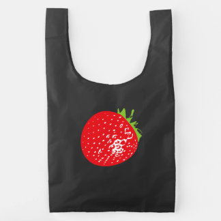 Piña y fresa bolsa reutilizable
