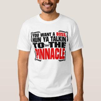 Pináculo de la camiseta de la cita camisas