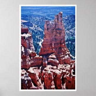 Pináculos tallados tiempo - parque nacional de Bry Impresiones