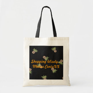 Pinapple grocery and couponing tote budget tote bag