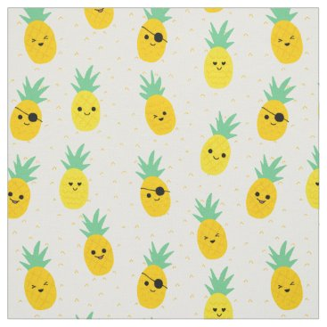 NalinN Pinapple pirates tropical summer fabric