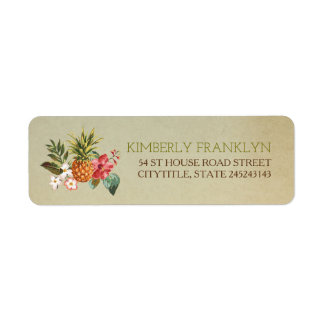 pinapple tropical beach wedding label