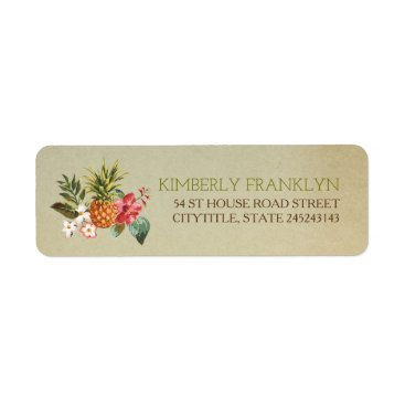 lovelywow pinapple tropical beach wedding label
