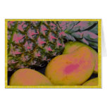 Pinapples y mangos tarjeton